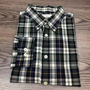 Turnbury Shirts - Turnbury Green, Navy, White & Red Plaid Shirt L
